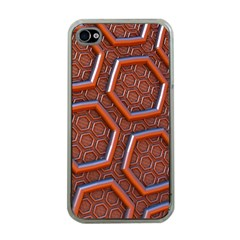 3d Abstract Patterns Hexagons Honeycomb Apple iPhone 4 Case (Clear)