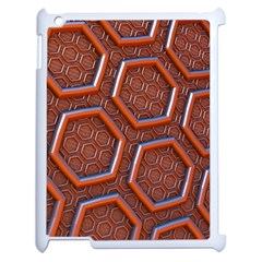 3d Abstract Patterns Hexagons Honeycomb Apple Ipad 2 Case (white)