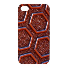 3d Abstract Patterns Hexagons Honeycomb Apple iPhone 4/4S Hardshell Case