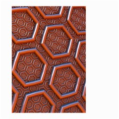3d Abstract Patterns Hexagons Honeycomb Small Garden Flag (two Sides)