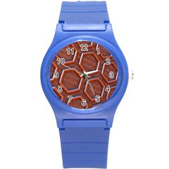 3d Abstract Patterns Hexagons Honeycomb Round Plastic Sport Watch (s)