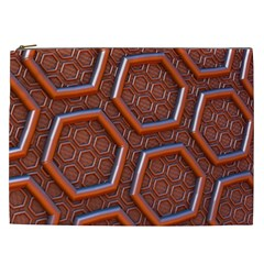 3d Abstract Patterns Hexagons Honeycomb Cosmetic Bag (XXL)