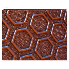 3d Abstract Patterns Hexagons Honeycomb Cosmetic Bag (xxxl)