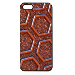 3d Abstract Patterns Hexagons Honeycomb Apple Iphone 5 Seamless Case (black)