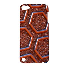 3d Abstract Patterns Hexagons Honeycomb Apple iPod Touch 5 Hardshell Case