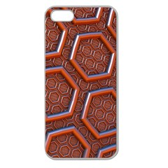 3d Abstract Patterns Hexagons Honeycomb Apple Seamless Iphone 5 Case (clear)