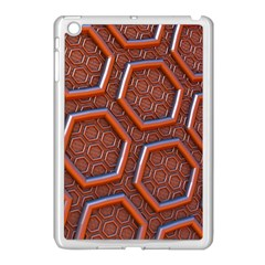 3d Abstract Patterns Hexagons Honeycomb Apple Ipad Mini Case (white)