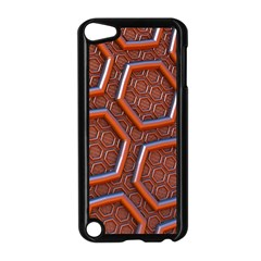 3d Abstract Patterns Hexagons Honeycomb Apple Ipod Touch 5 Case (black)