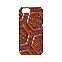 3d Abstract Patterns Hexagons Honeycomb Apple iPhone 5 Classic Hardshell Case (PC+Silicone)