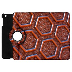 3d Abstract Patterns Hexagons Honeycomb Apple iPad Mini Flip 360 Case