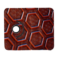 3d Abstract Patterns Hexagons Honeycomb Galaxy S3 (Flip/Folio)