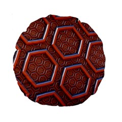 3d Abstract Patterns Hexagons Honeycomb Standard 15  Premium Round Cushions
