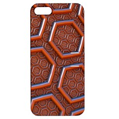 3d Abstract Patterns Hexagons Honeycomb Apple Iphone 5 Hardshell Case With Stand