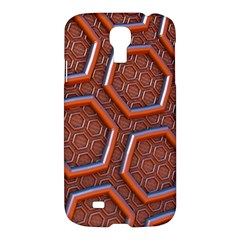 3d Abstract Patterns Hexagons Honeycomb Samsung Galaxy S4 I9500/I9505 Hardshell Case