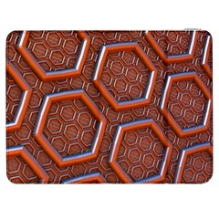 3d Abstract Patterns Hexagons Honeycomb Samsung Galaxy Tab 7  P1000 Flip Case
