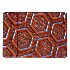 3d Abstract Patterns Hexagons Honeycomb Samsung Galaxy Tab 10 1  P7500 Flip Case
