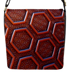 3d Abstract Patterns Hexagons Honeycomb Flap Messenger Bag (s)