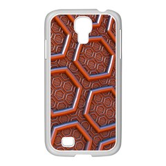 3d Abstract Patterns Hexagons Honeycomb Samsung Galaxy S4 I9500/ I9505 Case (white)
