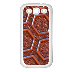 3d Abstract Patterns Hexagons Honeycomb Samsung Galaxy S3 Back Case (white)