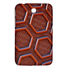 3d Abstract Patterns Hexagons Honeycomb Samsung Galaxy Tab 3 (7 ) P3200 Hardshell Case