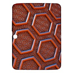 3d Abstract Patterns Hexagons Honeycomb Samsung Galaxy Tab 3 (10.1 ) P5200 Hardshell Case