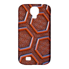 3d Abstract Patterns Hexagons Honeycomb Samsung Galaxy S4 Classic Hardshell Case (pc+silicone)