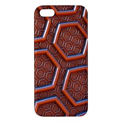 3d Abstract Patterns Hexagons Honeycomb Iphone 5s/ Se Premium Hardshell Case