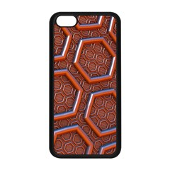 3d Abstract Patterns Hexagons Honeycomb Apple Iphone 5c Seamless Case (black)
