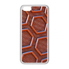 3d Abstract Patterns Hexagons Honeycomb Apple Iphone 5c Seamless Case (white)