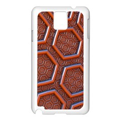 3d Abstract Patterns Hexagons Honeycomb Samsung Galaxy Note 3 N9005 Case (white)