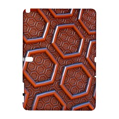3d Abstract Patterns Hexagons Honeycomb Galaxy Note 1