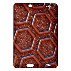 3d Abstract Patterns Hexagons Honeycomb Amazon Kindle Fire Hd (2013) Hardshell Case