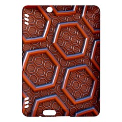 3d Abstract Patterns Hexagons Honeycomb Kindle Fire HDX Hardshell Case