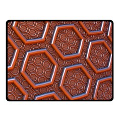3d Abstract Patterns Hexagons Honeycomb Double Sided Fleece Blanket (small)
