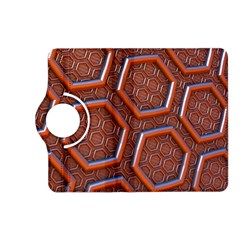 3d Abstract Patterns Hexagons Honeycomb Kindle Fire HD (2013) Flip 360 Case