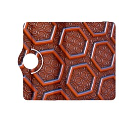 3d Abstract Patterns Hexagons Honeycomb Kindle Fire Hdx 8 9  Flip 360 Case