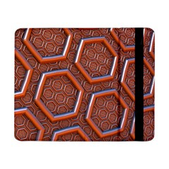 3d Abstract Patterns Hexagons Honeycomb Samsung Galaxy Tab Pro 8 4  Flip Case
