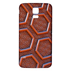 3d Abstract Patterns Hexagons Honeycomb Samsung Galaxy S5 Back Case (white)
