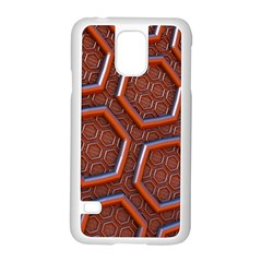 3d Abstract Patterns Hexagons Honeycomb Samsung Galaxy S5 Case (White)