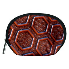 3d Abstract Patterns Hexagons Honeycomb Accessory Pouches (Medium)