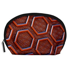 3d Abstract Patterns Hexagons Honeycomb Accessory Pouches (large)