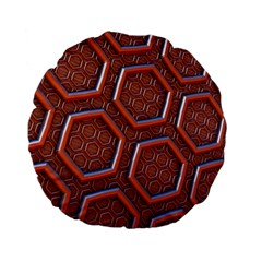 3d Abstract Patterns Hexagons Honeycomb Standard 15  Premium Flano Round Cushions