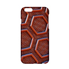 3d Abstract Patterns Hexagons Honeycomb Apple Iphone 6/6s Hardshell Case