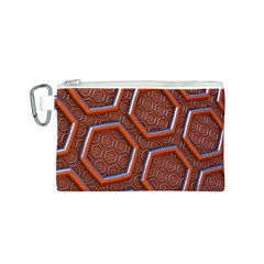 3d Abstract Patterns Hexagons Honeycomb Canvas Cosmetic Bag (s)