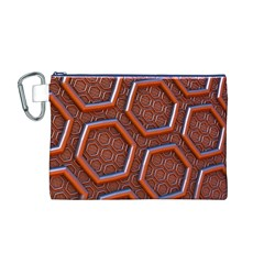 3d Abstract Patterns Hexagons Honeycomb Canvas Cosmetic Bag (m)