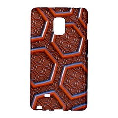 3d Abstract Patterns Hexagons Honeycomb Galaxy Note Edge