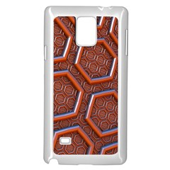 3d Abstract Patterns Hexagons Honeycomb Samsung Galaxy Note 4 Case (white)