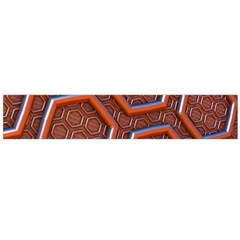 3d Abstract Patterns Hexagons Honeycomb Flano Scarf (large)