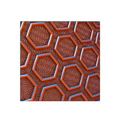 3d Abstract Patterns Hexagons Honeycomb Satin Bandana Scarf