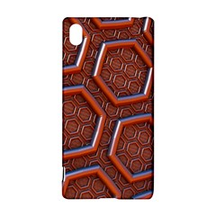 3d Abstract Patterns Hexagons Honeycomb Sony Xperia Z3+